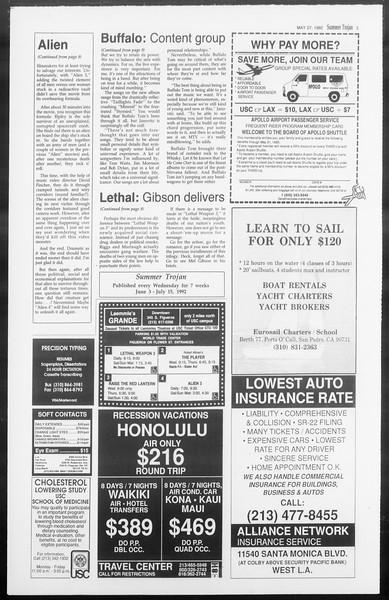 Summer Trojan, Vol. 118, No. 3, May 27, 1992