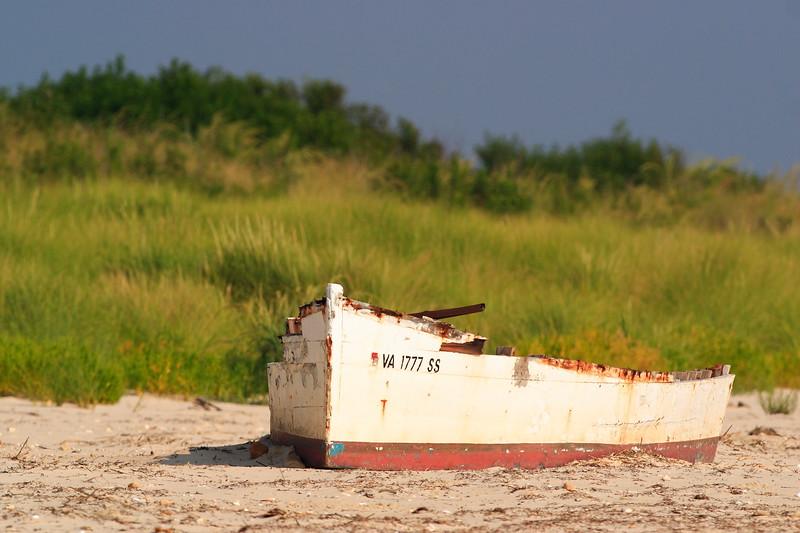 Wreck of old boat on Grandview Beach, Hampton, VA. © 2005 Kenneth R. Sheide