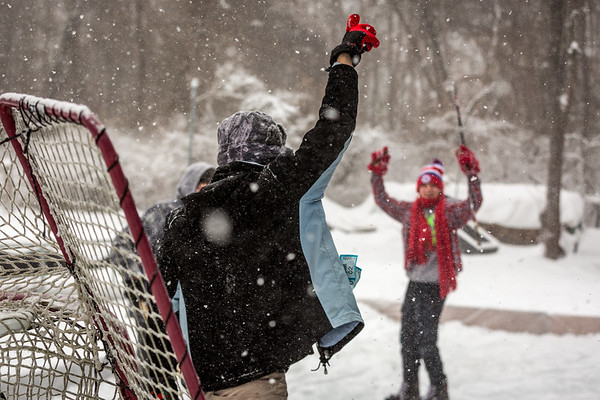 Skating and Hockey in the Backyard