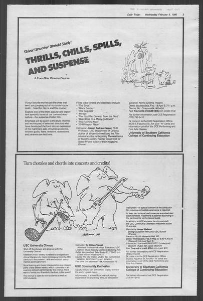 Daily Trojan, Vol. 88, No. 3, February 06, 1980