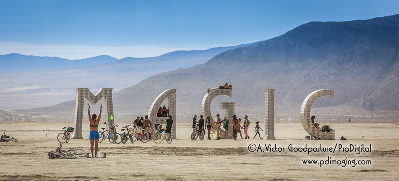 Morning activity grows on the playa.