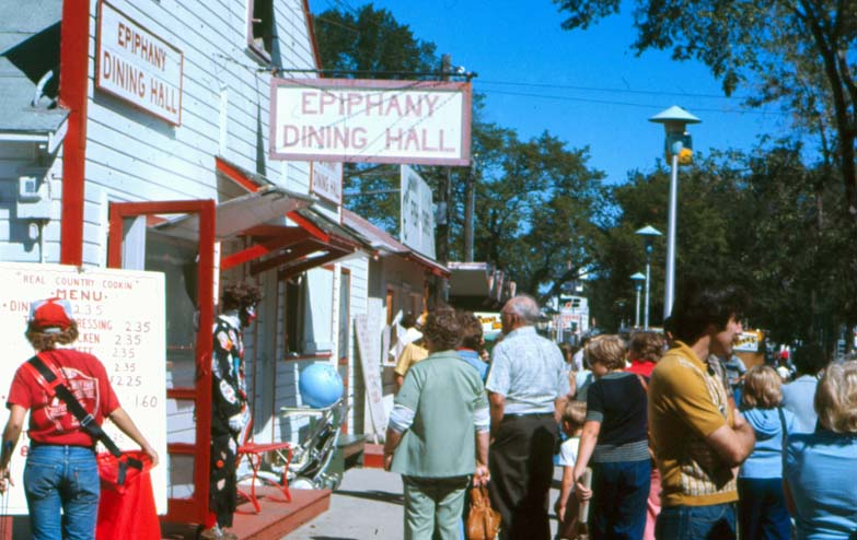 . The Epiphany Dining Hall at the Minnesota State Fair, 1976. Photo courtesy of the Minnesota State Fair.