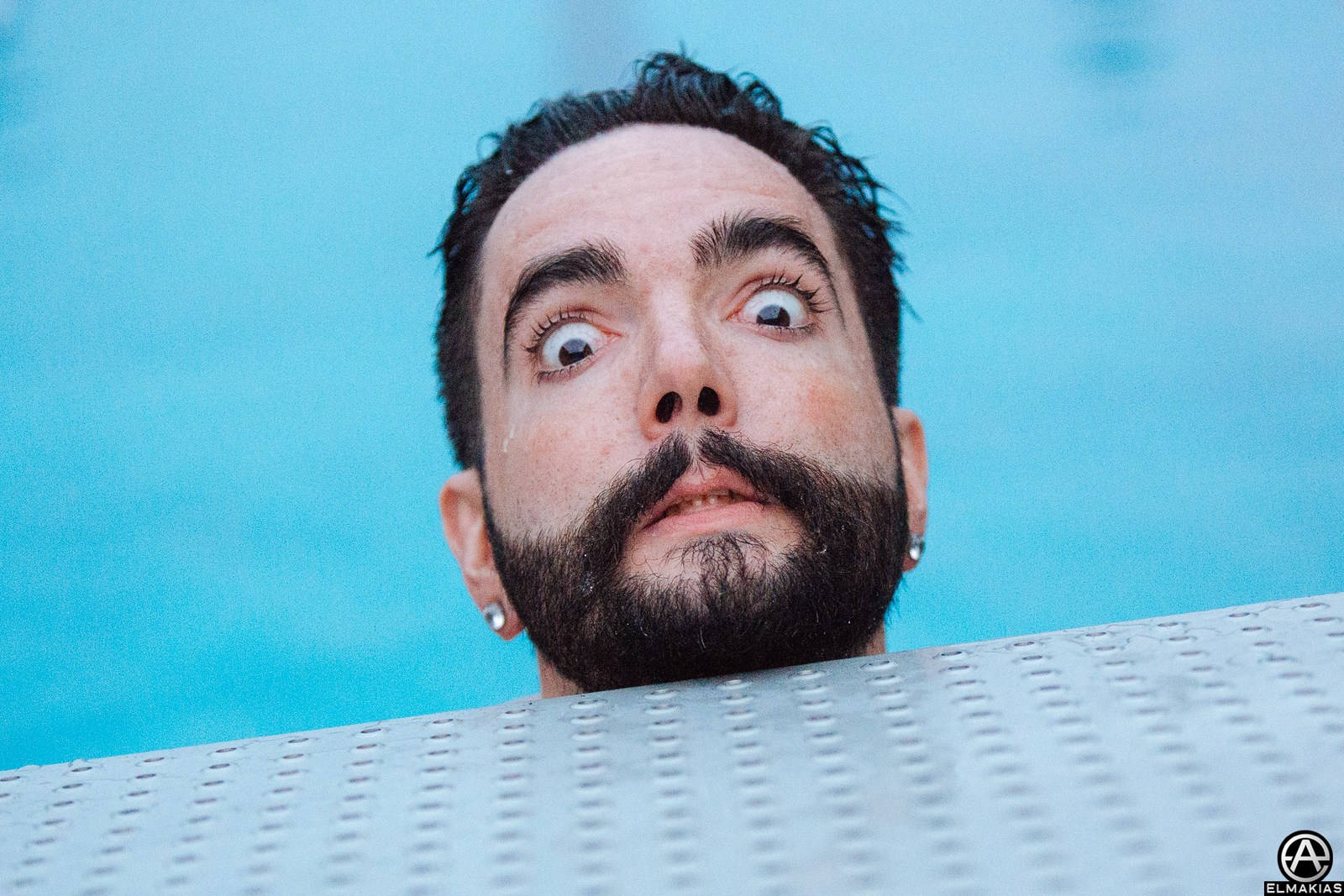 Jeremy McKinnon of A Day To Remember swimming in Nuremberg - European Festivals