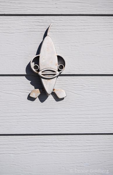 on the side of a bath house, Hampton Beach, NH