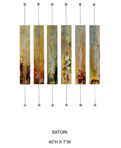 "Satori-Hollack, 40""h x 84""w painting on metal"