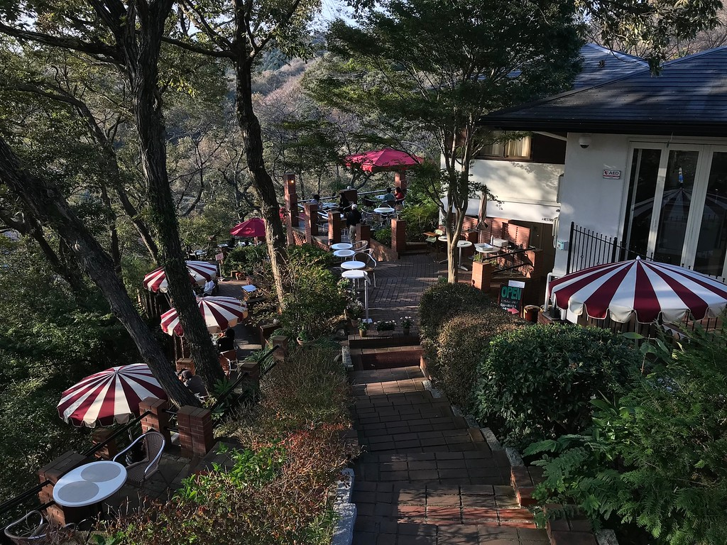 Itsuki Garden, a charming cafe set into the hillside.