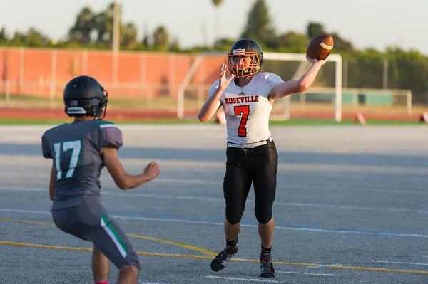 Roseville High School JV Football vs River Valley  10-4-19