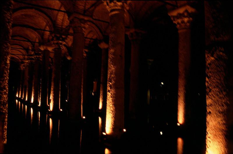 Yerebatan Sarnici (Basilica Cistern) Istanbul underground waterway built by Romans