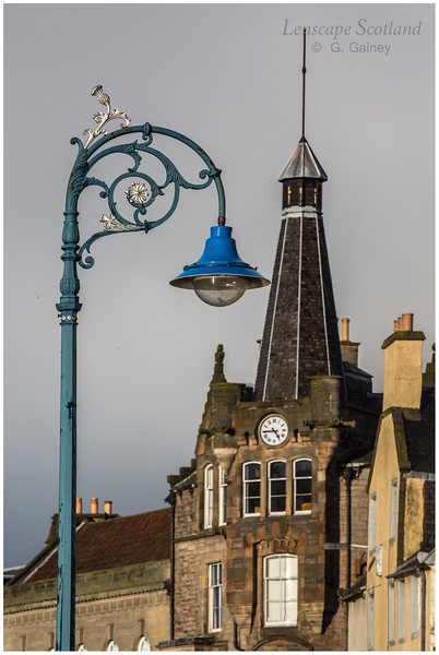 Ornate street lamp, the Shore, Leith (1)