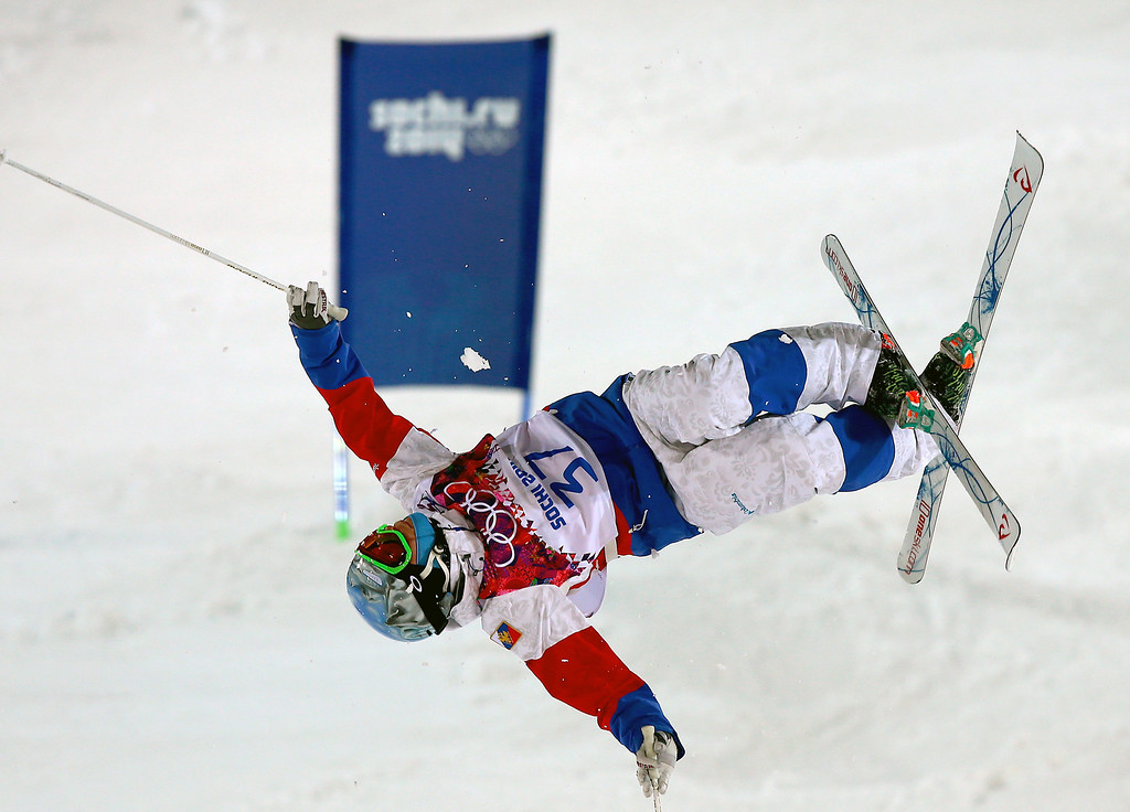 . Sergey Volkov of Russia during  the Freestyle Skiing Men\'s Moguls Qualification 1 at the Sochi 2014 Olympic Games, Krasnaya Polyana, Russia, 10 February 2014.  EPA/JENS BUETTNER