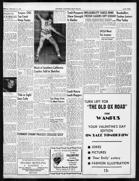 Daily Trojan, Vol. 31, No. 83, February 13, 1940