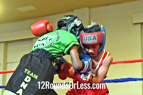 Bout 15 Thalemon Powell, Blue Gloves, Cleveland -vs- Jamir Montgomery, Red Gloves, Cleveland