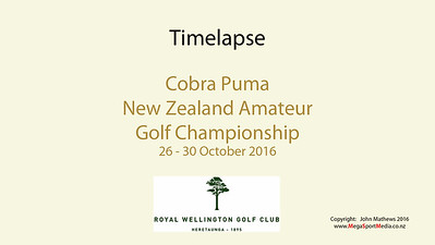 Oct 16 - Golf - NZ Amateur Championship