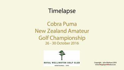 Oct 16 - Golf - NZ Amateur Championship