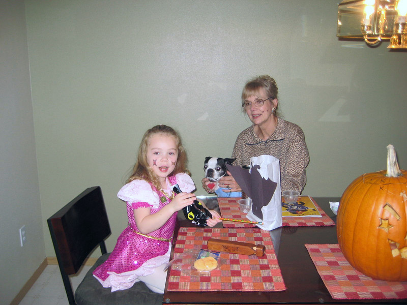 Halloween '08 - her goodie bag from daycare