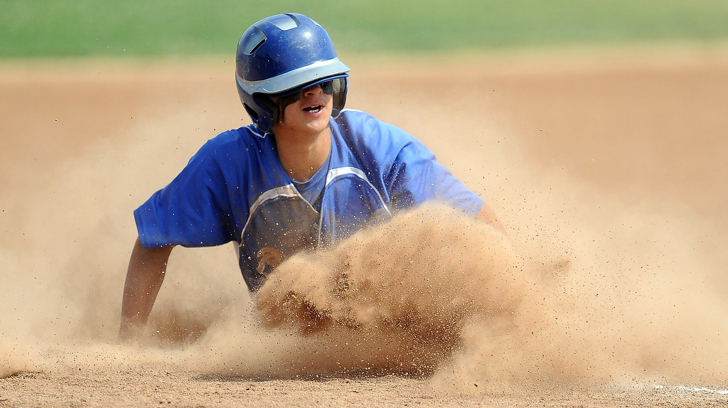 . Baldwin Park\'s Justin Tellez moves to third base on a single by Jonatan Huerta (not pictured) in the first inning of a prep baseball game against Northview at Northview High School on Tuesday, April 23, 2012 in Covina, Calif. Northview won 8-2.    (Keith Birmingham/Pasadena Star-News)
