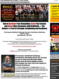 Dragon Door Kettlebell Instructor Certification