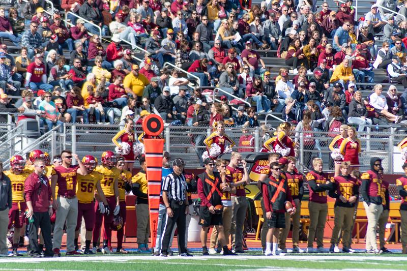 NSU sideline and crowd