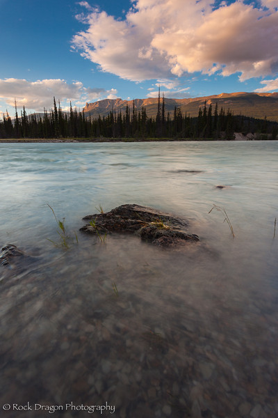 Athabasca river in Jasper National park.