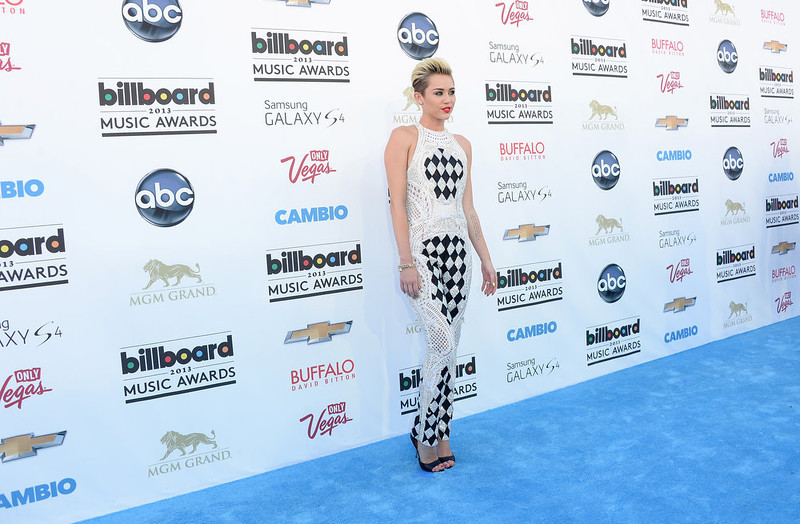 . Singer/Actress Miley Cyrus  arrives at the 2013 Billboard Music Awards at the MGM Grand Garden Arena on May 19, 2013 in Las Vegas, Nevada.  (Photo by Jason Merritt/Getty Images)