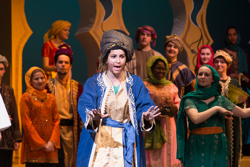 Omar Khayyam, the Caliph's mentor -- Kismet, Montgomery Blair High School spring musical, April 15, 2016 performance (Silver Spring, MD)