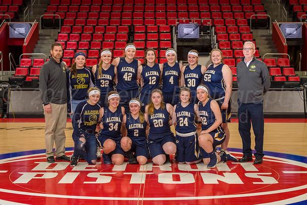 Alcona girls varsity basketball 12-30-2017