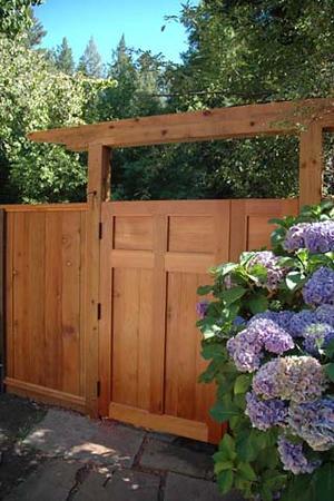 Wilson-Brito residence: garden gates