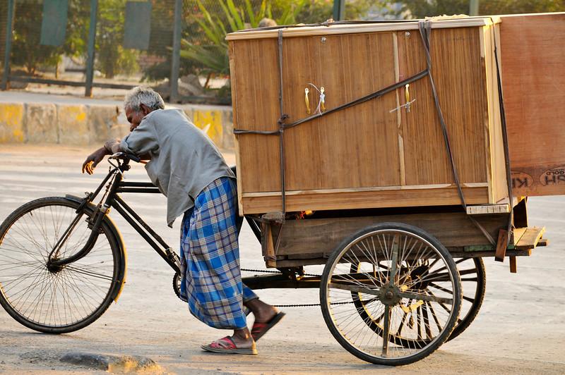 Moving furniture in Delhi.