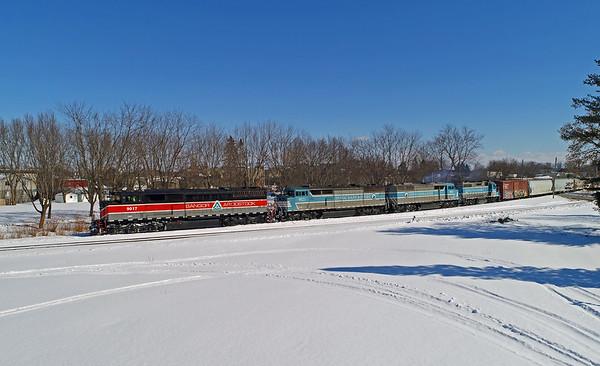 Central Maine & Quebec 9017 North, Farnham, Quebec, March 6 2019.