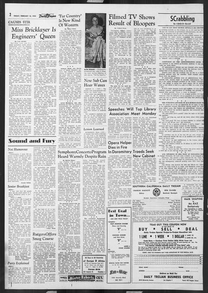 Daily Trojan, Vol. 46, No. 80, February 18, 1955