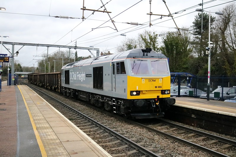 60055 1411/6z05 Chaddesden to Willesden F Sidings with load 5.