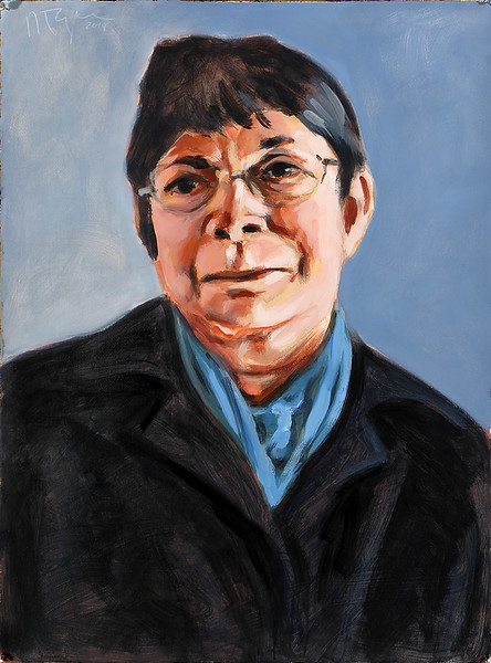 Portrait study - Dorothy; acrylic on paper, 22 x 30 in, 2018