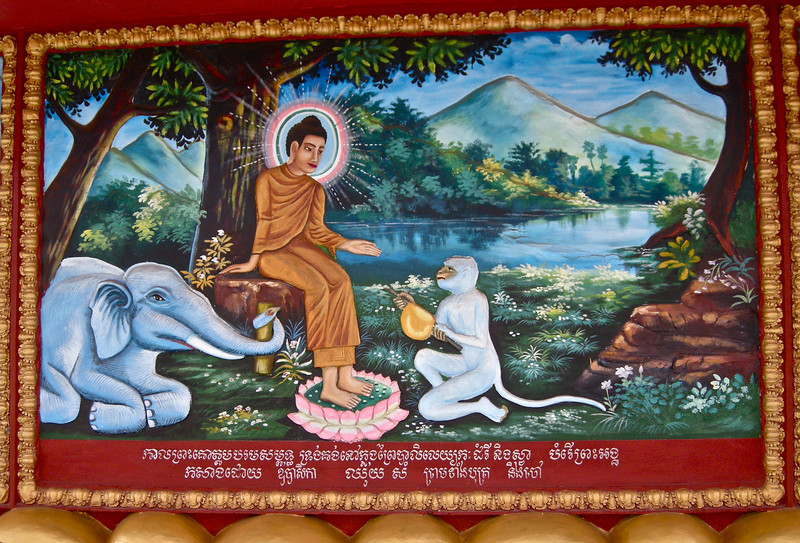 Painting at Wat Preah Prohm Rath Pagoda