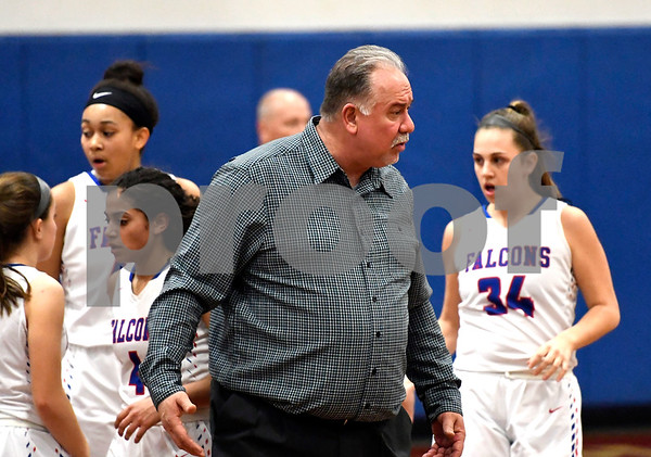 3/1/2018 Mike Orazzi | Staff St. Pauls Joe Mone during the Class M Second Round of the CIAC 2018 State Girls Basketball Tournament with Stonington in Bristol Thursday night.