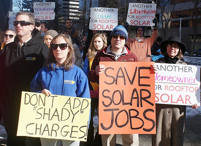 Xcel-Rooftop Solar Protest 12/11/13