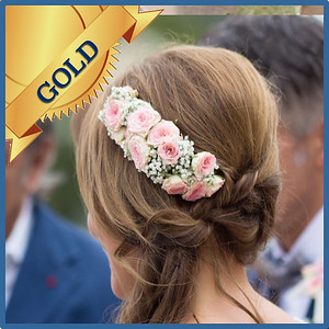 92204 Bride hair decorations Gold