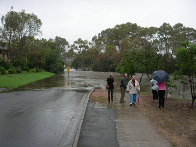 Flood waters at Gawler  8th November 2005