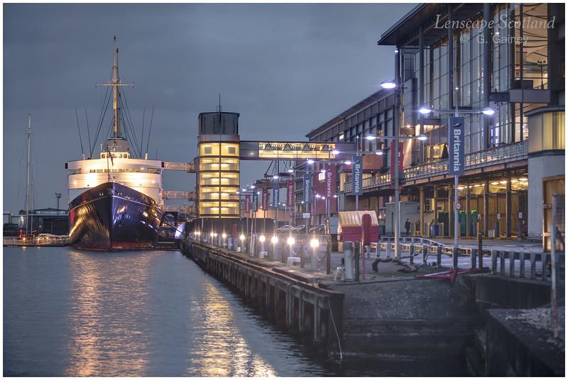 former Royal Yacht 'Britannia' at Ocean Terminal