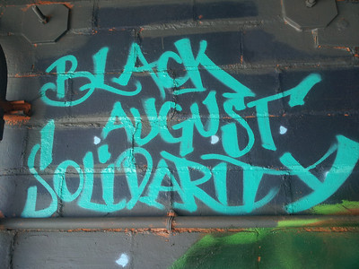 Black August Solidarity mural