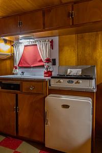 1954 Holiday Rambler Interior Kitchen