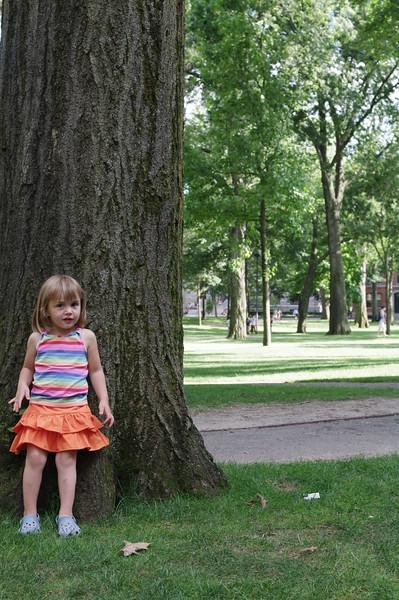 Anya in Harvard Yard.