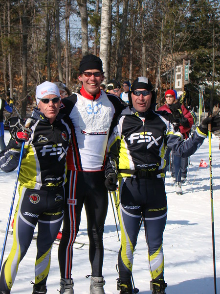Overall winners - the fastest team: Milan Baic, Todd Vigland, Cliff Onthank of Traverse City Nordic.