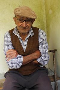 "José ""Mudo"" Cardoso Gonçalves (Calheta de Nesquim, Pico), born 1917, pictured nearby his family's auto shop. August 14, 2012."