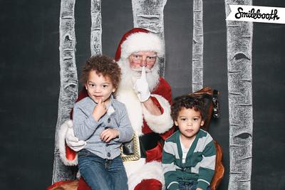 santa visits littles