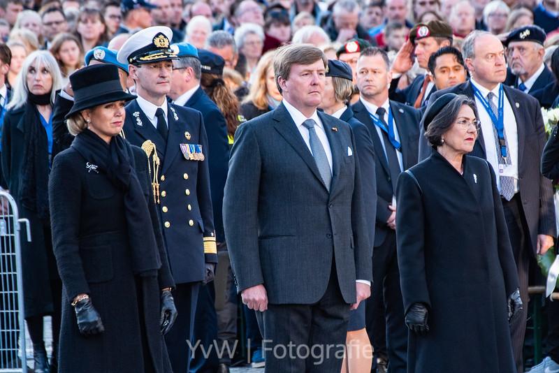 Willem-Alexander en Máxima Dodenherdenking 2018