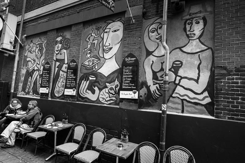 Outdoor Cafe Art