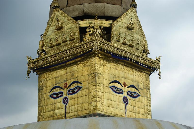 Detail of the main stupa at Swayambunath.