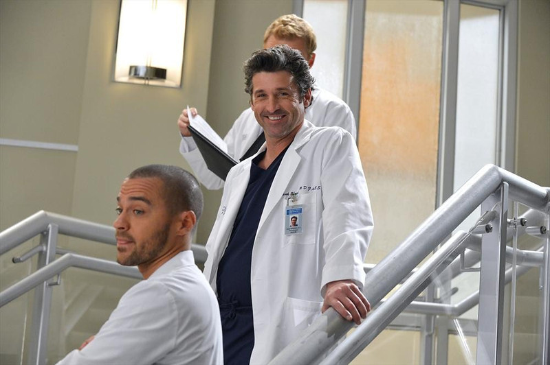 ". GREY\'S ANATOMY - ""You\'ve Got To Hide Your Love Away\"" (ABC/Eric McCandless) JESSE WILLIAMS, PATRICK DEMPSEY, KEVIN MCKIDD (OBSCURED)"