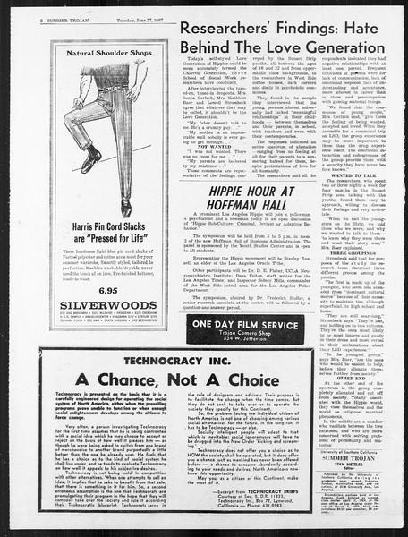 Summer Trojan, Vol. 18, No. 3, June 27, 1967