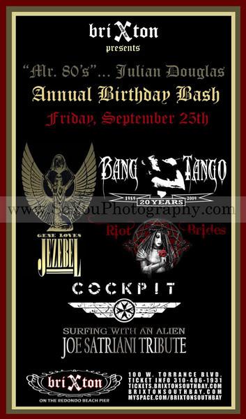 2009-09-25, Bang Tango and more @ Brixton (South Bay)